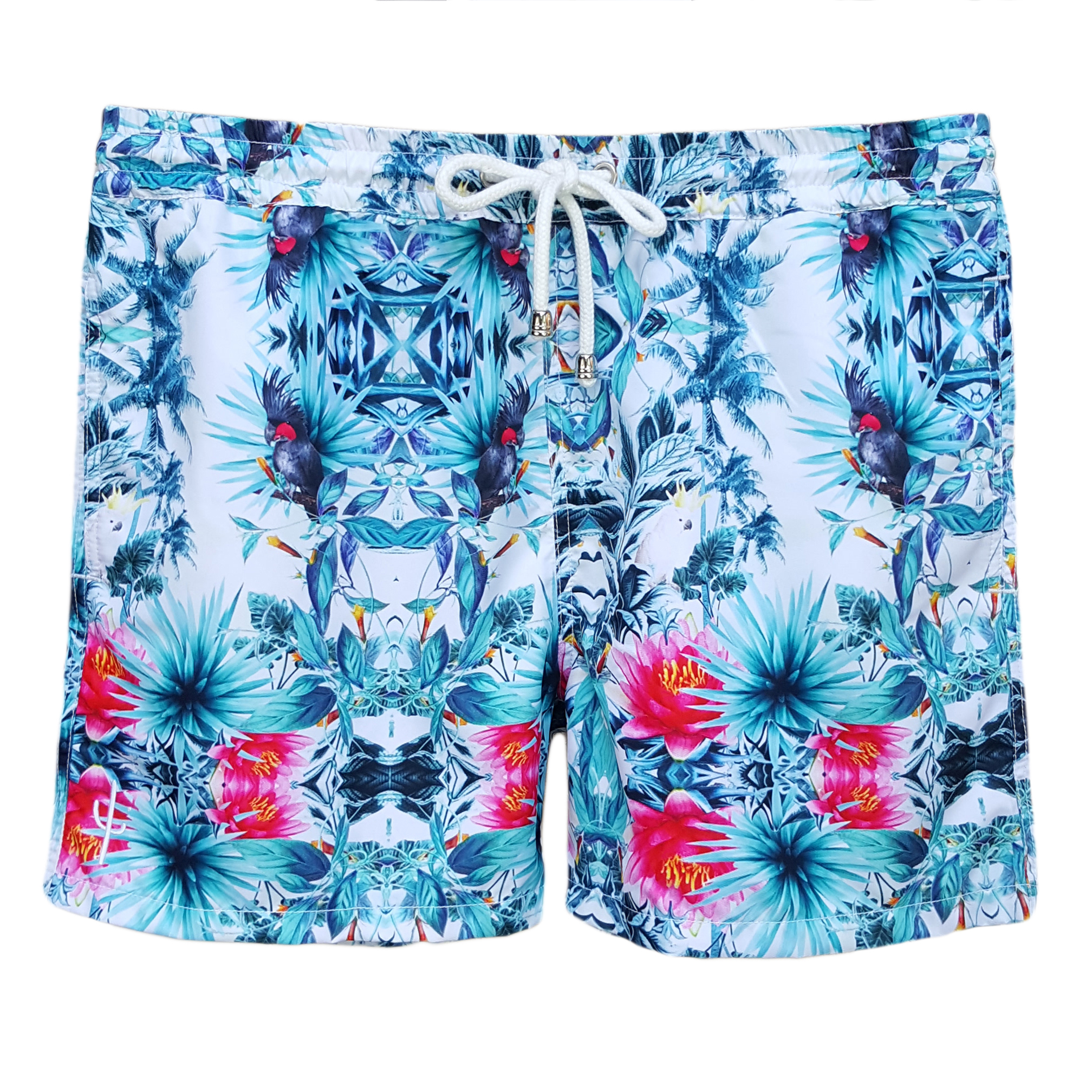 CRS04 LAGUNA BOARDSHORTS TROPICAL PARROT FRONT